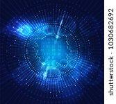 big data visualization....   Shutterstock . vector #1030682692