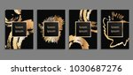 set of luxury cover templates.... | Shutterstock .eps vector #1030687276