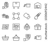 flat vector icon set   gift... | Shutterstock .eps vector #1030692442