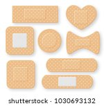 set of realistic first aid band ... | Shutterstock .eps vector #1030693132