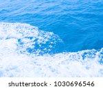 blue sea with foam   bubble. | Shutterstock . vector #1030696546