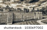 the tower of london on a... | Shutterstock . vector #1030697002