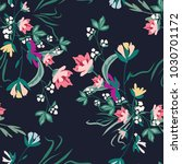 seamless pattern with small... | Shutterstock .eps vector #1030701172