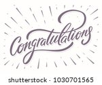 congratulations. greeting card. | Shutterstock .eps vector #1030701565