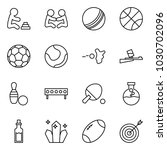 flat vector icon set   playing... | Shutterstock .eps vector #1030702096