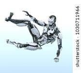 3d cg rendering of a robot | Shutterstock . vector #1030711966