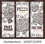 sketch vector fast food...   Shutterstock .eps vector #1030712395