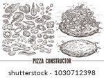 big monochrome vector set of... | Shutterstock .eps vector #1030712398