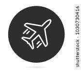 airplane vector icon....   Shutterstock .eps vector #1030730416