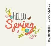 vintage spring typography... | Shutterstock .eps vector #1030732522