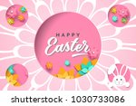 easter card with cutout frame... | Shutterstock .eps vector #1030733086