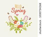 beautiful vintage spring label  ... | Shutterstock .eps vector #1030734268
