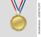award medals isolated on... | Shutterstock .eps vector #1030741195