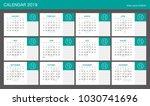 2019 calendar planner design.  | Shutterstock .eps vector #1030741696