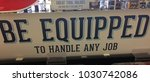 white sign saying be equipped... | Shutterstock . vector #1030742086