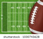 american football field with... | Shutterstock .eps vector #1030743628