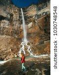 okatse canyon and kintchkha... | Shutterstock . vector #1030748548