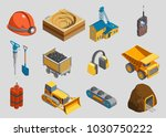 isometric mining elements set... | Shutterstock .eps vector #1030750222
