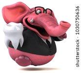 pink elephant   3d illustration | Shutterstock . vector #1030750636
