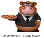 fun cow   3d illustration | Shutterstock . vector #1030750696