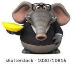 fun elephant   3d illustration | Shutterstock . vector #1030750816