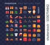 pixel art 80s style fashion... | Shutterstock .eps vector #1030754842