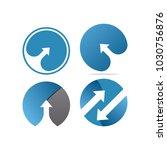 collection of arrow logo... | Shutterstock .eps vector #1030756876