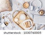 freelance. concept of working... | Shutterstock . vector #1030760005