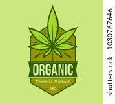 medical cannabis retro logo ... | Shutterstock .eps vector #1030767646