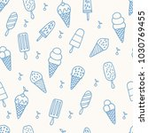 summer ice cream pattern.... | Shutterstock .eps vector #1030769455