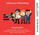 influencer marketing...   Shutterstock .eps vector #1030772098