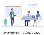 team work in office. creative... | Shutterstock .eps vector #1030772302