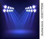 blue background lighting. | Shutterstock .eps vector #1030779508