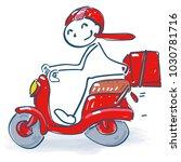 stick figure with a little... | Shutterstock .eps vector #1030781716
