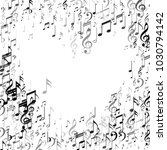 heart of music note signs and... | Shutterstock .eps vector #1030794142
