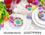 beautiful table setting with...   Shutterstock . vector #1030799896
