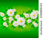 bright spring floral background ... | Shutterstock .eps vector #1030800142