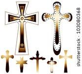 Set Of Seven Christian Crosses  ...