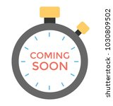 a stopwatch with coming soon... | Shutterstock .eps vector #1030809502