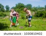 gardening in the yard | Shutterstock . vector #1030810402