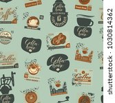 vector seamless pattern with... | Shutterstock .eps vector #1030814362