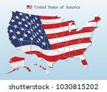 usa map vector | Shutterstock .eps vector #1030815202