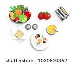 breakfast  lunch or dinner ... | Shutterstock .eps vector #1030820362