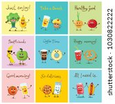 funny best friends food... | Shutterstock .eps vector #1030822222