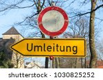 street sign with german text... | Shutterstock . vector #1030825252