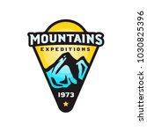 mountains expeditions logo... | Shutterstock .eps vector #1030825396