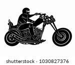 illustration of rider on... | Shutterstock .eps vector #1030827376