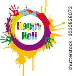 indian festival of colours | Shutterstock .eps vector #1030828072