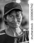 portrait of old women wearing... | Shutterstock . vector #1030830742