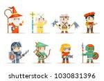 warrior mage elf priest archer... | Shutterstock .eps vector #1030831396